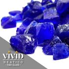 VIVID COBALT BLUE 1 2 3 4 Large Fireplace Fire Pit Fireglass Glass Crystals