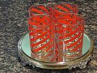 Culver  Holiday Glass Christmas Tree and Candy Cane Striped Drink  Tumblers