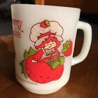 1980 Milk Glass Anchor Hocking Fire King STRAWBERRY SHORTCAKE Coffee Cup Mug