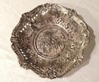 Antique German Silver Plated/Pewter 3D Dish-Estate Sale Find!