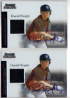 2004 Bowman Sterling David Wright 2 Card Lot Rookie Auto Jersey Memorabilia