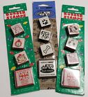 All Night Media PUPPY and cat stamp set total of 9 Christmas and regular