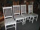 Chairs 4 Tropical Chippendale Island Dining Vintage Antique White Painted