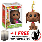 FUNKO POP DR SEUSS THE GRINCH MAX FLOCKED EXCLUSIVE + FREE POP PROTECTOR