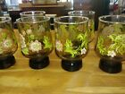 Set of 6 Vintage MidCentury Modern Juice Glasses RARE and Very Nice