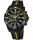 New Festina Men's Black PVD-Plated Chrono Rubber Strap F20366/1 Watch