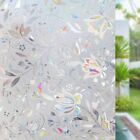 RABBITGOO 3D Window Film Frosted Stained Glass Flower Static Cling Window Tint