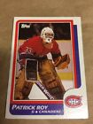 1986 - 1987 Topps Patrick Roy Montreal Canadiens #53 Rookie Card