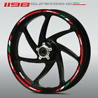Ducati Superbike 1198 motorcycle wheel decals stickers rim stripes 1198S 1198R