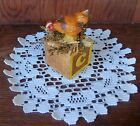 Primitive Farmhouse Decor ~ Antique Childs Toy Block / Chicken/Hen Figurine