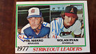 1978 TOPPS 1977 STRIKEOUT LEADERS CARD SIGNED BY BOTH NOLAN RYAN PHIL NIEKRO 206