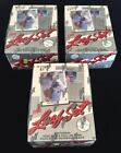 (3) 1990 LEAF BASEBALL FOIL BOX SERIES 1 BOXES FACTORY SEALED FREE SHIPPING