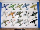SKY WINGS MOTORMAX DIECAST LOT OF 15 WWII FIGHTER BOMBER PLANES WITH CASE