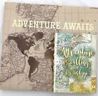 Travel Guided Journal + Scrapbooking Album  Adventure is Calling Map Old World