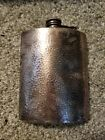 Vintage Hammered silver Flask With Cover Cap F.P.N.S. signed/stamped