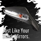 VAWiK OEM replacement LED fairing mirror black for Gilera SC125 x1 RIGHT HAND