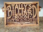Man Cave Personalized Billiards Room Pool Hall Gift Custom Carved Wood Plaque