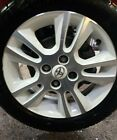 TOYOTA AYGO 15 4 STUD WHITE ALLOY WHEEL + 165 60 15 CONTINENTAL TYRE 7mm