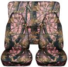 Fits 87 95 Jeep Wrangler YJ car seat covers CAMOUFLAGE DESIGN