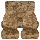 Fits 87-95 Jeep Wrangler YJ car seat covers ,CAMOUFLAGE DESIGN