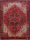 Unbeatable Collectible Geometric Red 8x11 Wool Heriz Persian Oriental Area Rug