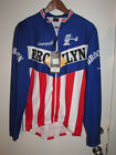 NEW GIORDANA MENS LONG SLEEVE CYCLING JERSEY LARGE TEAM BROOKLYN USA FLAG 120