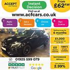 2016 BLACK MERCEDES A200 21 AMG LINE PREMIUM DIESEL AUTO CAR FINANCE FR 62 PW