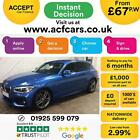 2016 BLUE BMW 120D 20 M SPORT DIESEL AUTO 5DR HATCH CAR FINANCE FR 67 PW