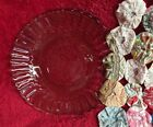 Vintage Anchor Hocking Brown Glass Saucer with Scalloped Edge