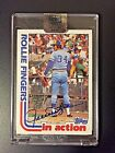2017 Topps Archives '82 Topps Rollie Fingers On Card Autograph Buyback #19 58