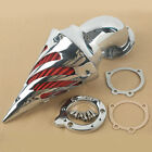 Chrome Spike Air Cleaner Intake Filter For Harley SS EVO CV Custom Sportster XL