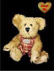Boyd's Bear 1998 Jointed Brown Teddy In Red Plaid Outfit Stuffed Plush Animal