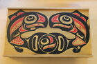 Pacific Northwest Native Wooden Sliding Top Box Orcas