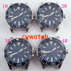 45mm watch case Blue Dial Sapphire Glass fit parnis watch Miyota 8215 Automatic