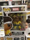 Funko Pop Marvel Luke Cage #189 Previews Exclusive Signed by Roy Thomas W COA