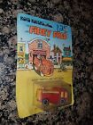 RARE vintage Road Rovers FIREY FRED moc on card diecast car fire truck