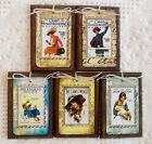 5 Handcrafted MAGAZINE COVER HangTags/Ornaments  GOOD HOUSEKEEPING/LADIES WORLD