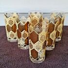 Vintage Cera Ned Harris MCM Set of 6 Pineapple Tall Glasses Highball Tumblers