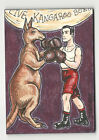 Kangaroo Boxing 2013 Viceroy Carnival Artist Sketch Card by Joshua Werner 1 1