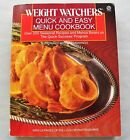 Weight Watchers Quick  Easy Menu Cookbook 1988 PB dieting