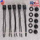 5pcs 12V 4 Wire Leads Waterproof On Off Push Button Switch for Motorcycle Car