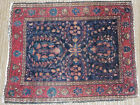 Antique Small Miniature Oriental Floral Creeping Ivy Design Rug Little Beauty