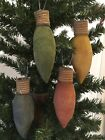 Primitive* Handcrafted * Grubby Christmas Tree Light Bulbs* Ornies* Bowl Filler