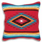 Serape Throw Pillow Cover 18 X 18 Hand Woven in Southwest and Native American