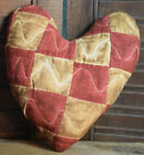 Primitive Quilt Heart Valentine Red Bowl Filler Cupboard Tuck Coffee Stained