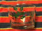 Vintage INDIANA GLASS CHRISTMAS HOLLY Punch Ice Serving Bowl Clear Glass Lot#089
