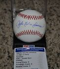 Andre Dawson Autographed Baseball (PSA DNA) 9 Chicago Cubs Legend Full Name