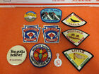 Set of 7 Vintage Patches Little League Boy Scouts pow wow old 6 Flags Elsiie