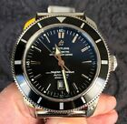 Breitling Superocean Heritage 46 wrist watch with black dial & ss bracelet great