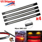 4x LED Strips Tail Brake Lights For Kawasaki Classic Nomad Voyager Vaquero 1700